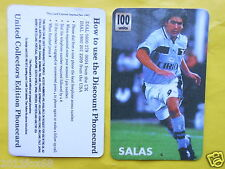 rare phonecards telefonkarten 1997 phone cards 100 units lazio marcelo salas gq