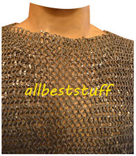 ALUMINUM ROUND RIVETED CHAINMAIL SHIRT CHAIN MAIL ARMOUR COSTUME XXL SIZE A1