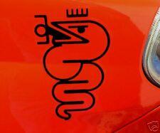 "ALFA ROMEO Noir & Clair serpent autocollants 7 ""paire GTA GUILIA GTV GIULIETTA MITO 145"