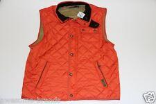 Ralph Lauren Down  Vest Blue Orange Epson Quilted Vest men XL XLarge
