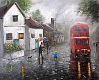100%Hand-painted Oil Painting Nice Landscape art 16*20inch Decoration canvas