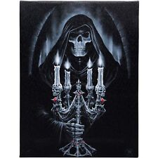 Candelabra Anne Stokes Wall Plaque Gothic Fantasy Skull Art Canvas Picture