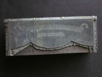 1890's Coxsackie New York George H. Scott Fire Dept. No.1 Banner Printers Pewter