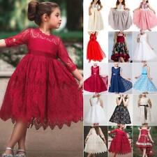 Kids Girls Princess Tutu Dress Wedding Bridesmaid Birthday Prom Fancy Dressing