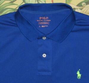 Polo RALPH LAUREN Performance Blue Short Sleeve Polo Shirt Large L