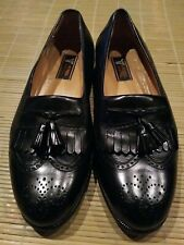 Miguel Angel Genuine Black Leather Slip On Dress Shoes Size 10 W Men's
