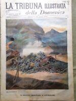La Tribuna Illustrata 21 Agosto 1898 Disastro Pontedecimo Folgore Ponte Biserta