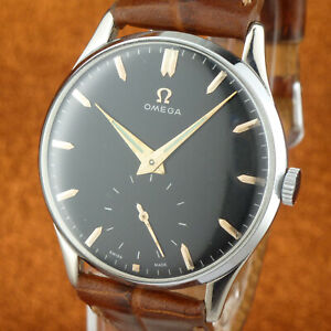Excellent Vintage OMEGA - Size 36,5mmØ - Black Dial - from 1950'