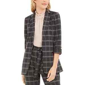 Calvin Klein Petite Plaid Open-Front Blazer Size 8P NWT $149
