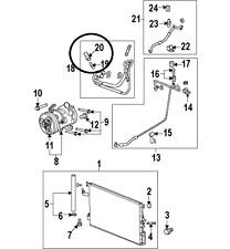 Suzuki XL7 07-09 A/C Transducer Switch Pressure W/Electrical Pigtail Connector