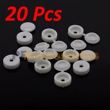 20 Pcs Hinged Plastic Screw Covers White (Fold Snap Caps)