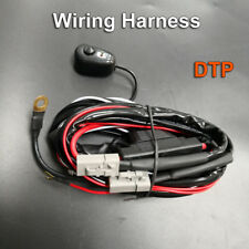 LED Light Wiring Loom Harness Automative Relay Kit Quick Fit High Beam Plug Lamp