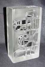 Verrouille & PUTZLER verre cristal vase relief motif