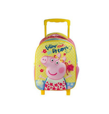 Peppa Pig Toddler Kindergarten School Bag Backpack Trolley Bag