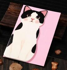 Sale  Holiday Greeting Cards Korea Cats B Message Memo Card X'mas Gift 1pc