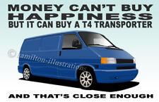VW Volkswagen T4 Van Camper Transporter Novelty Fridge Magnet *BLUE*
