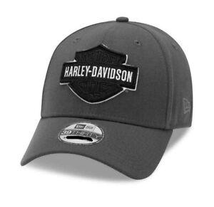 Harley-Davidson® Men's Tonal B&S Logo 39THIRTY Baseball Cap, Gray 99422-20VM S