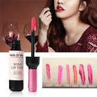 Women Wine Bottle Dyeing Lip Gloss Lasting Liquid Tint Waterproof Matte Lipstick