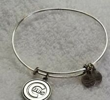 ALEX AND ANI CHICAGO CUBS BANGLE BRACELET SILVER 2016