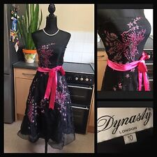 Dynasty London :Rrp £180 : 50's Rockabilly Embellished Dress : Prom Party :UK 10