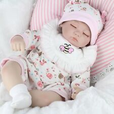 "17"" Handmade Reborn Dolls Baby Girls Realistic Vinyl Real Looking Newborn Baby"