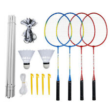 Badminton Combination Set 4 Rackets +Net +Badmintons Outdoor Fun Family Games