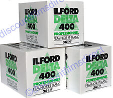 3 x ILFORD DELTA 400 35mm 36 exp CHEAP B&W CAMERA FILM by 1st CLASS POST