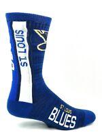 For Bare Feet St. Louis Blues Bar Stripe Vert Crew Socks
