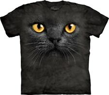 Big Face Black Cat Pet T Shirt Adult Unisex The Mountain