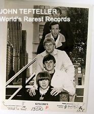ORIGINAL 1960's 8x10 Publicity Photo Kingsmen Rock