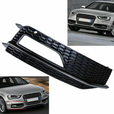 Driver Side Front Bumper Fog Light Grill Cover for Audi A4 B8 2012-2015 Facelift