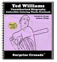 Ted Williams Baseball Card Sports Trading Card Notebook AUTHOR AUTOGRAPH SET