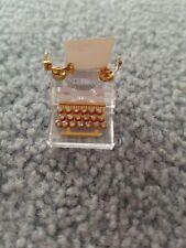 Swarovski Crystal Memories - Typewriter w/Gold Accent Beautiful Condition