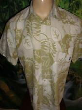 $60.00 BILLABONG Large Hawaiian Aloha Shirt Lime Green & Ivory Floral