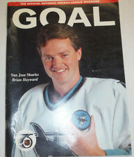 Goal Magazine San Jose Sharks Brian Haywards October 1991 010215R