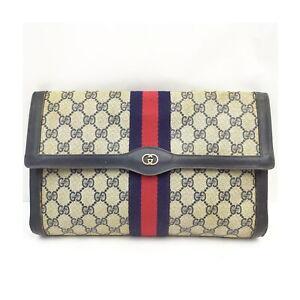 Vintage Gucci Clutch Bag  Navy Blue PVC 1429720