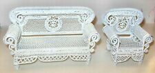 2 PC IRON WIRE LIVING ROOM DOLLHOUSE FURNITURE MINIATURES
