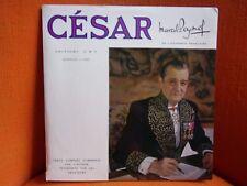 VINYL 33T DOUBLE – MARCEL PAGNOL : CESAR – TEXTE COMPLET COMMENTE PAR L'AUTEUR