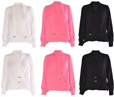 Unbranded Tie Neck Regular Size Tops & Shirts for Women
