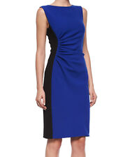 NWT $398 DVF Diane von Furstenberg Laura Sleeveless Ruched Sheath Dress Size 0