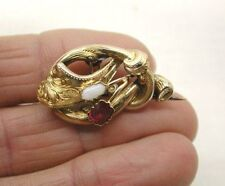 Ruby Yellow Gold Brooch/Pin Victorian Fine Jewellery