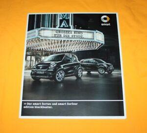 Smart Fortwo Forfour Blackbuster 2015 Prospekt Brochure Catalog Folder Prospect