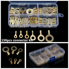 150x Assorted Insulated Electrical Wire Terminals Crimp Connectors Spade Set Box