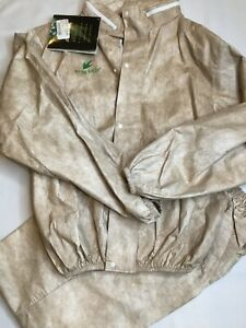 Frogg Toggs Outerwear Breathable Waterproof Suit Small Tan