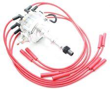 Clear HEI Distributor Coil Red 8.5mm Spark Plug Wires Pontiac 301 350 400 455 V8