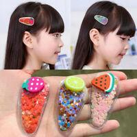 Cute Fruit Hair Clip Quicksand Hairpin Barrette Headwear For Baby Kids Children