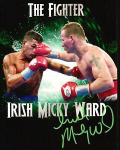 IRISH MICKY WARD SIGNED AUTOGRAPH PHOTO BOXING THE FIGHTER 8X10 COA ARTURO GATTI