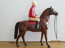 Vintage 1950's Hartland Jockey on Turf King with Original Whip/Crop Complete!