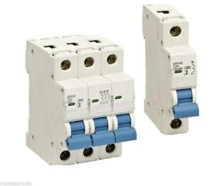 Leitungsschutzschalter Sicherungsautomat 1-polig 3-polig B  C  bis 63A Sicherung