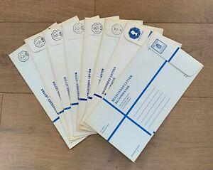 Isle of Man mint 1973-78 Registered Letter Envelopes, 9 different size K,  F-VF